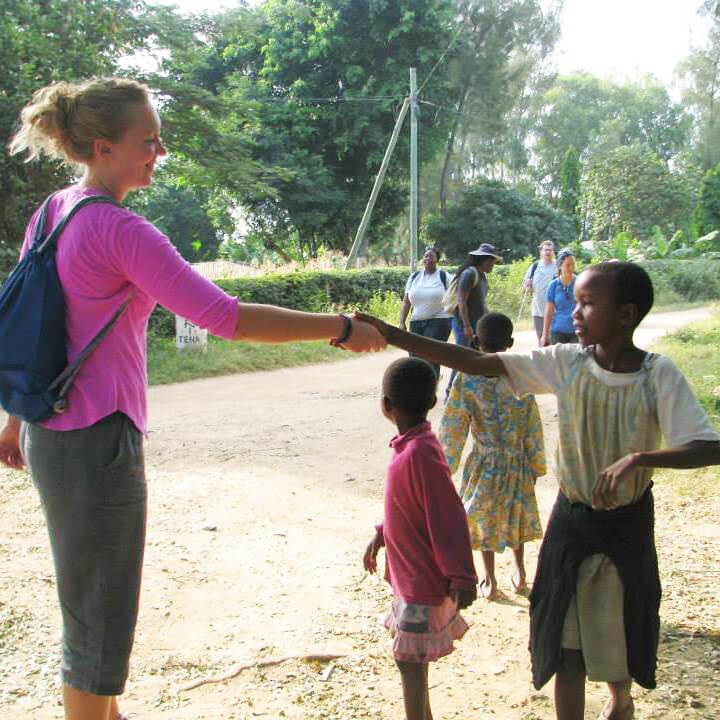 NIU alumna Rachel McBride in Tanzania