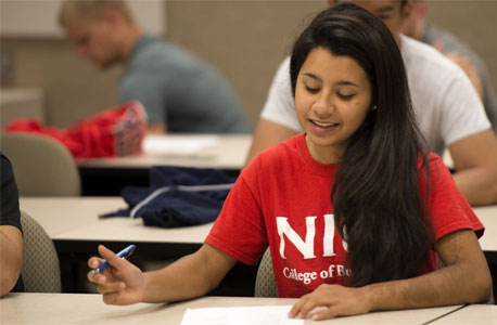 NIU College of Business student