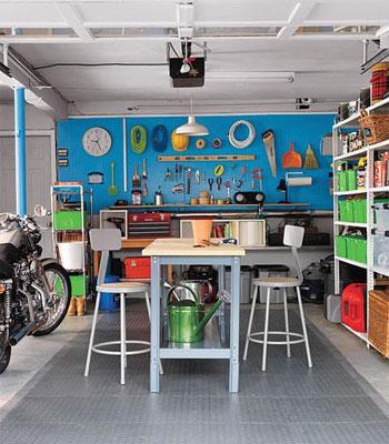 Photo of a garage workshop