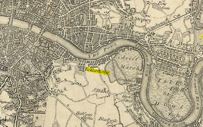 Map of 19th century London