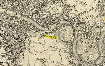 Map of 19th century London