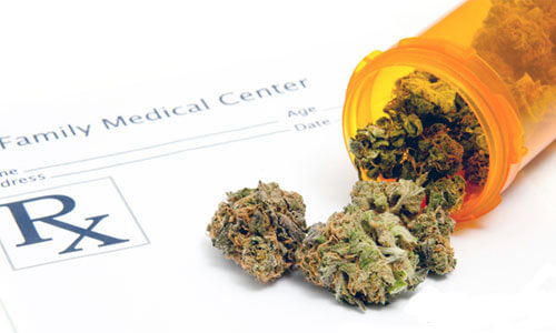 Photo illustration of medical marijuana