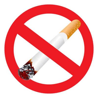 A no-smoking logo