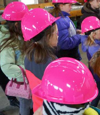 STEM Divas pink hats