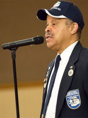 Tuskegee Airmen alum Ken Rapier spoke Feb. 19 at NIU, sharing his stories and hoping to inspire students to consider a future in aviation.