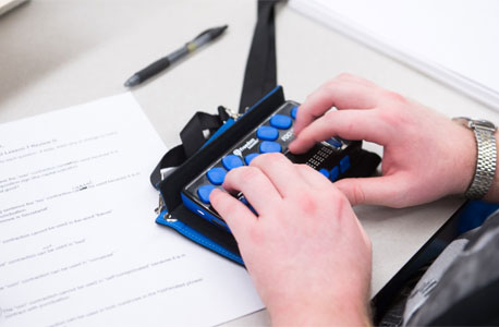 A Braille notetaker