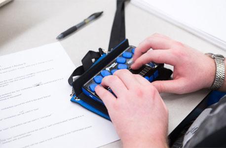 A Braille notetaker