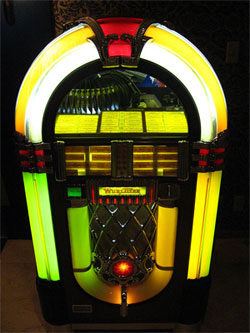Photo of a jukebox