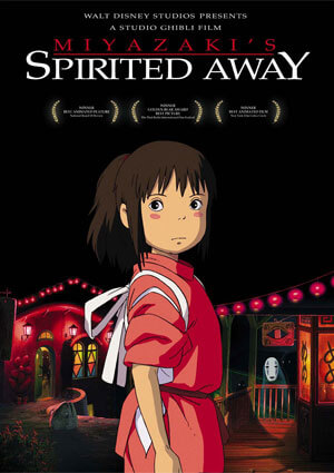 "Movie poster of ""Spirited Away"""