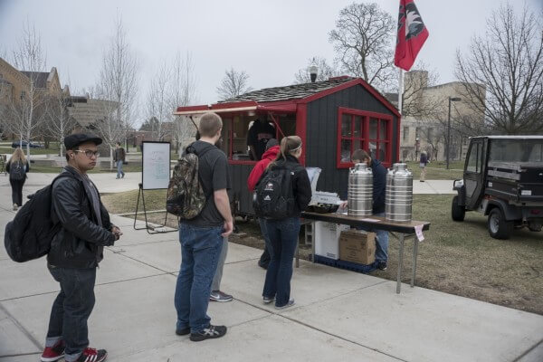 The Commons Cafe is open each Wednesday, weather permitting