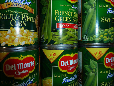Photo of canned goods