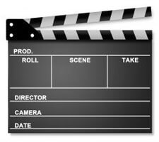 Movie set clapper