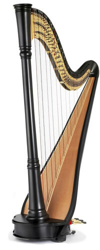 Photo of a harp