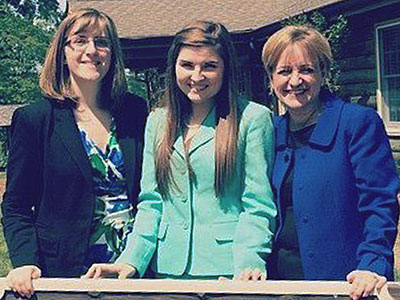 Lisa Roth (left) and Judy Santacaterina (right) join Julia Boyle at Berry College.