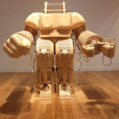 "Mike Rea's ""A Prosthetic Suit For Stephen Hawking With Japanese Steel,"" 2007"