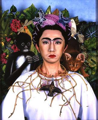 """An Inner Dialogue with Frida Kahlo (Crown of Thorns)"" by Yasumasa Morimura"
