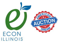 Econ Illinois and American Dream Auction logos