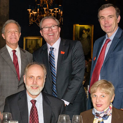 NIU President Doug Baker (lower left) attended the April 30 banquet.