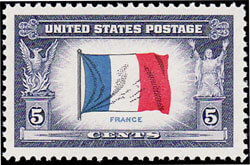 U.S. Postate stamp: France