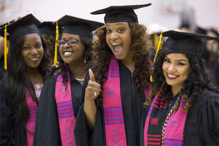 NIU grads at May 9, 2015, commencement