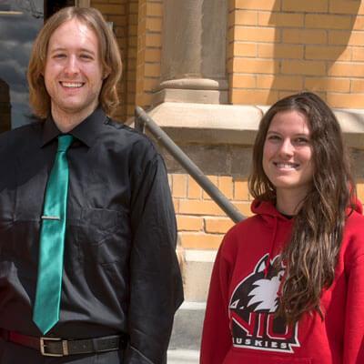 Tyler Bieda and Lydia Warren