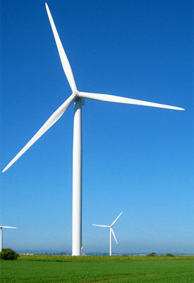 Photo of a wind turbine