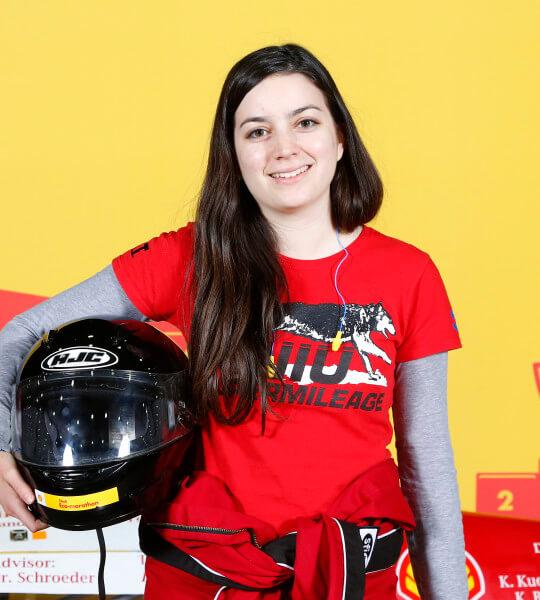 Supermileage Team driver Lindsey Dodis