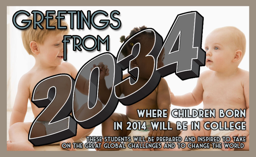 Science 2034 postcard