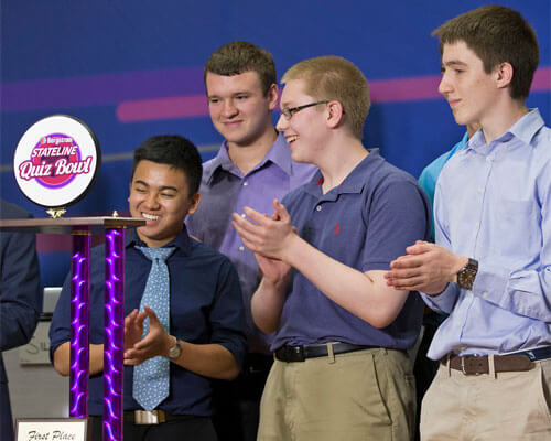 The team from Rockford Auburn High School won the first Bergstrom Stateline Quiz Bowl.