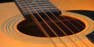 Photo of an acoustic guitar
