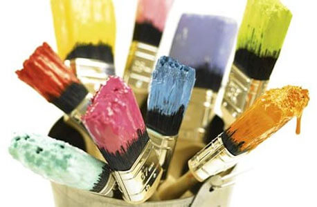 Photo of paint brushes