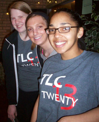 Students in TLC T-shirts