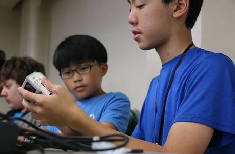 Students from Dongguan Taiwanese Business school were among the more than 300 campers who attended STEM Outreach summer camps in 2015.