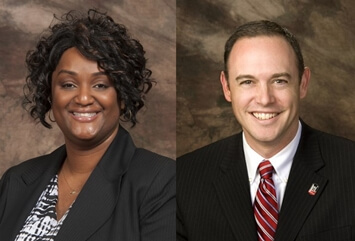 Administrative Task Force co-chairs Michelle Pickett and Matt Streb