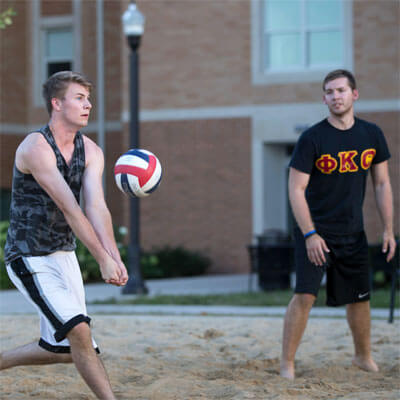 Sand volleyball at NIU