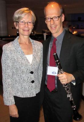 Kirsti Kauppi, ambassador of Finland to the United States, joins NIU's Gregory Barrett.