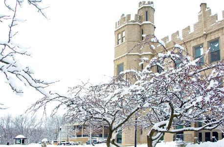 Altgeld Hall in winter