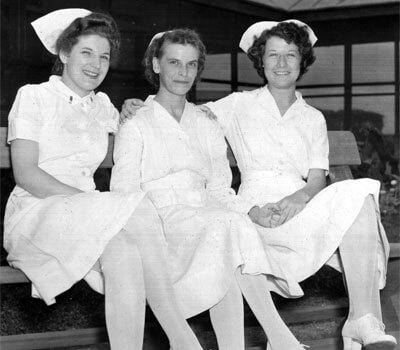 Nurses from the 1940s