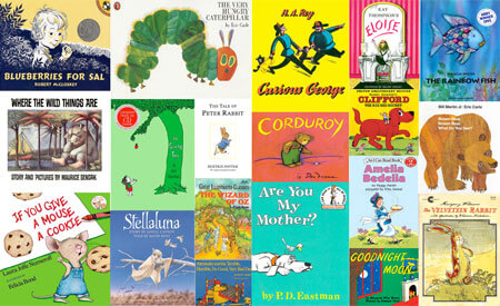 A montage of children's book covers