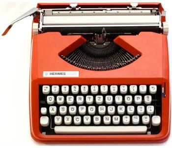 Photo of a 1970s typewriter