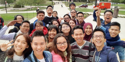 Twenty-one young leaders from nine Southeast Asian countries shortly after their arrival on campus Sept. 30 to study human rights and civil rights.