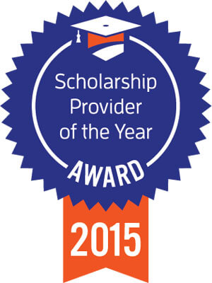 Scholarship Provider of the Year Award 2015 ribbon