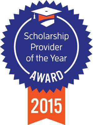 Scholarship Provider of the Year Award 2015 ribbon
