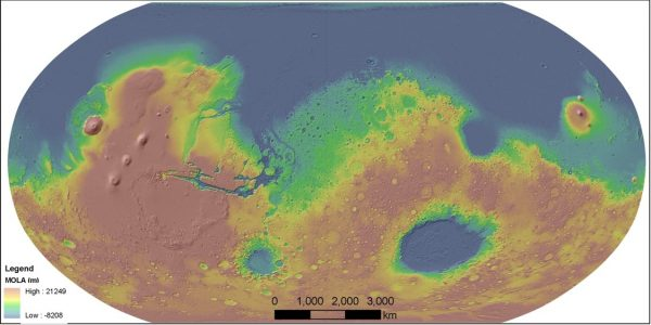 Mars Global Topography