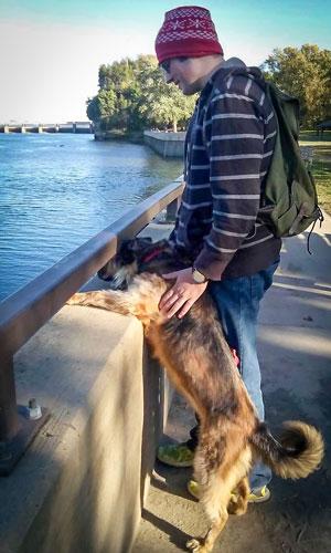Franz Varga and his dog