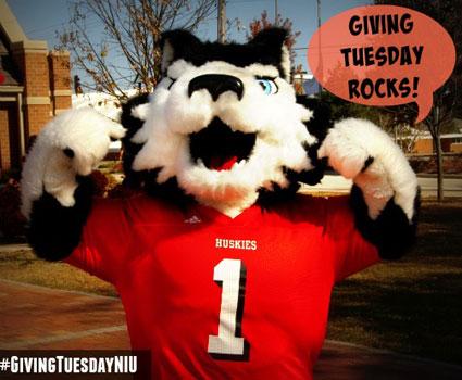 """Victor E. Huskies says """"Giving Tuesday Rocks!"""""""
