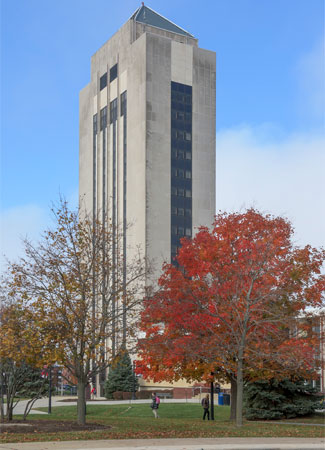 Holmes Student Center in fall