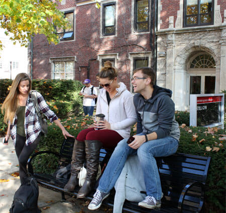 NIU students on campus