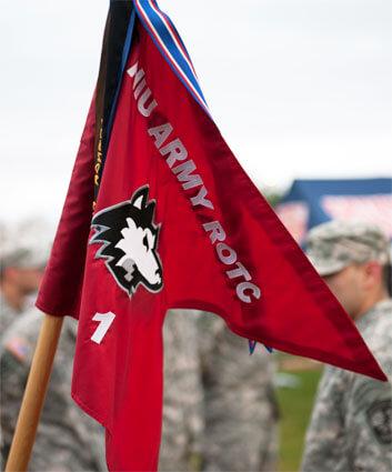 NIU Army ROTC flag