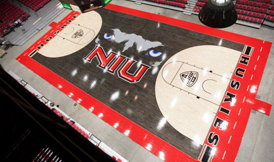 NIU Huskies basketball floor